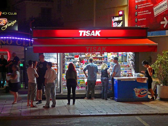 Tisak stand in Croatia